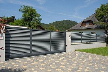 Super-Clôture, Göthe, France, portail coulissant, portail, Trento, opaque, moderne