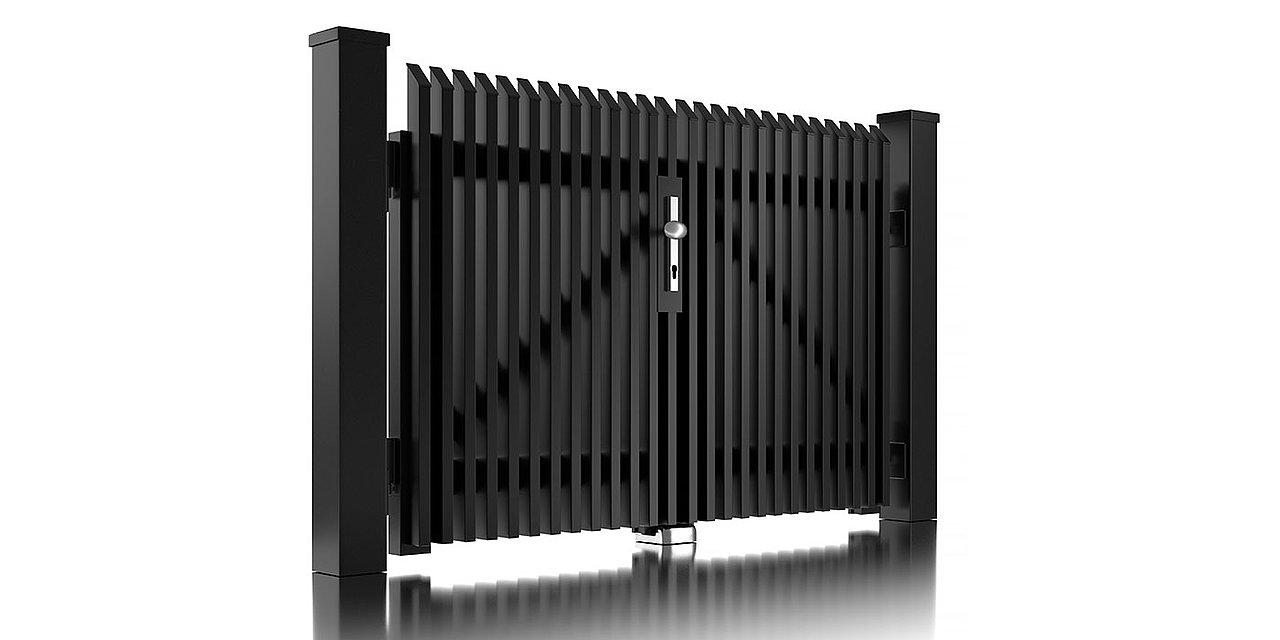 Portail à double battant en aluminium Lichtenberg de Super-Clôture