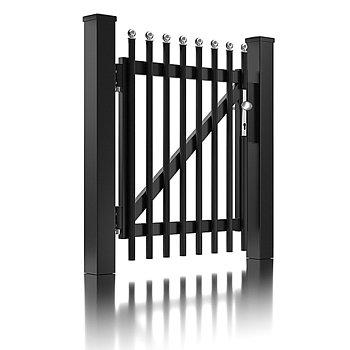 Super-Clôture, Einstein, France, clôture, aluminium, classique, porte piétonne, portail