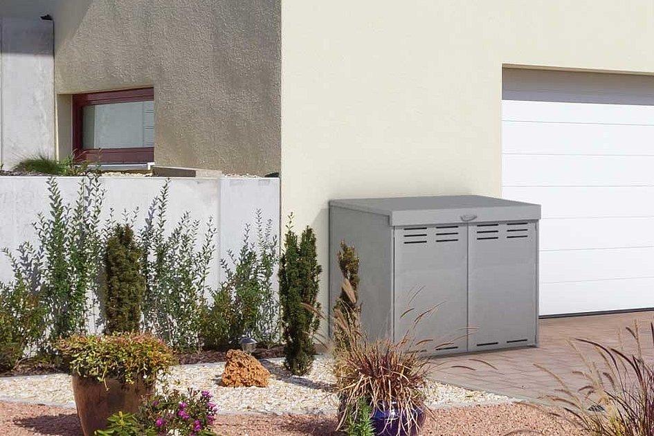 Super-Clôture, France, poubelle, coffre multifonctions, abri pour poubelles