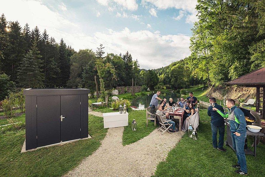 Super-Clôture, cabane de jardin, cabane de jardin, hangar à matériel, France, acier,