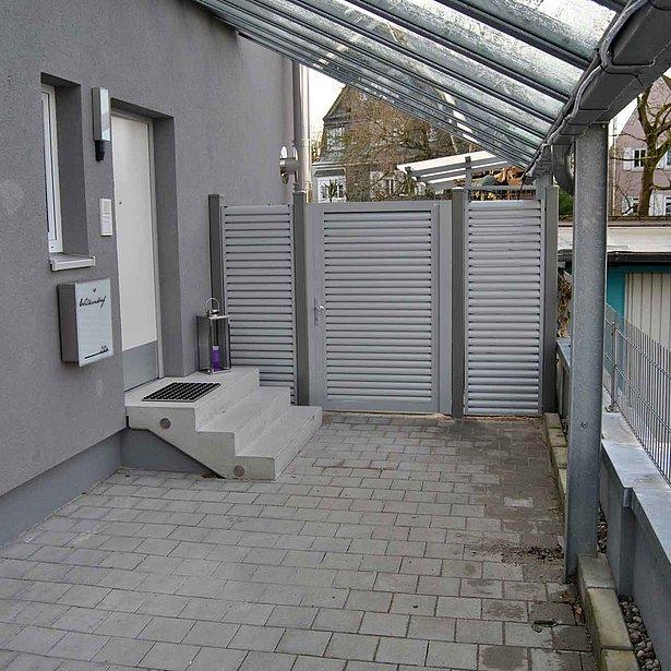 Super-Clôture, porte piétonne, portail aluminium, clôture occultante, France,