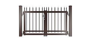 Clôture à barres - portail de jardin couleur marron chocolat - RAL 8017