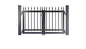 Clôture à barres - portail de jardin couleur gris anthracite - RAL 7016