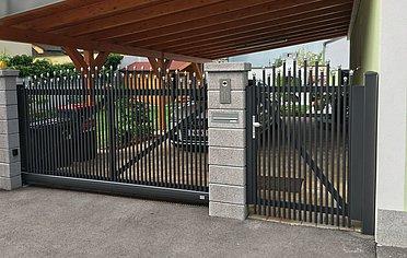 Super-Clôture, Einstein, France, portail coulissant, portail, aluminium, classique,