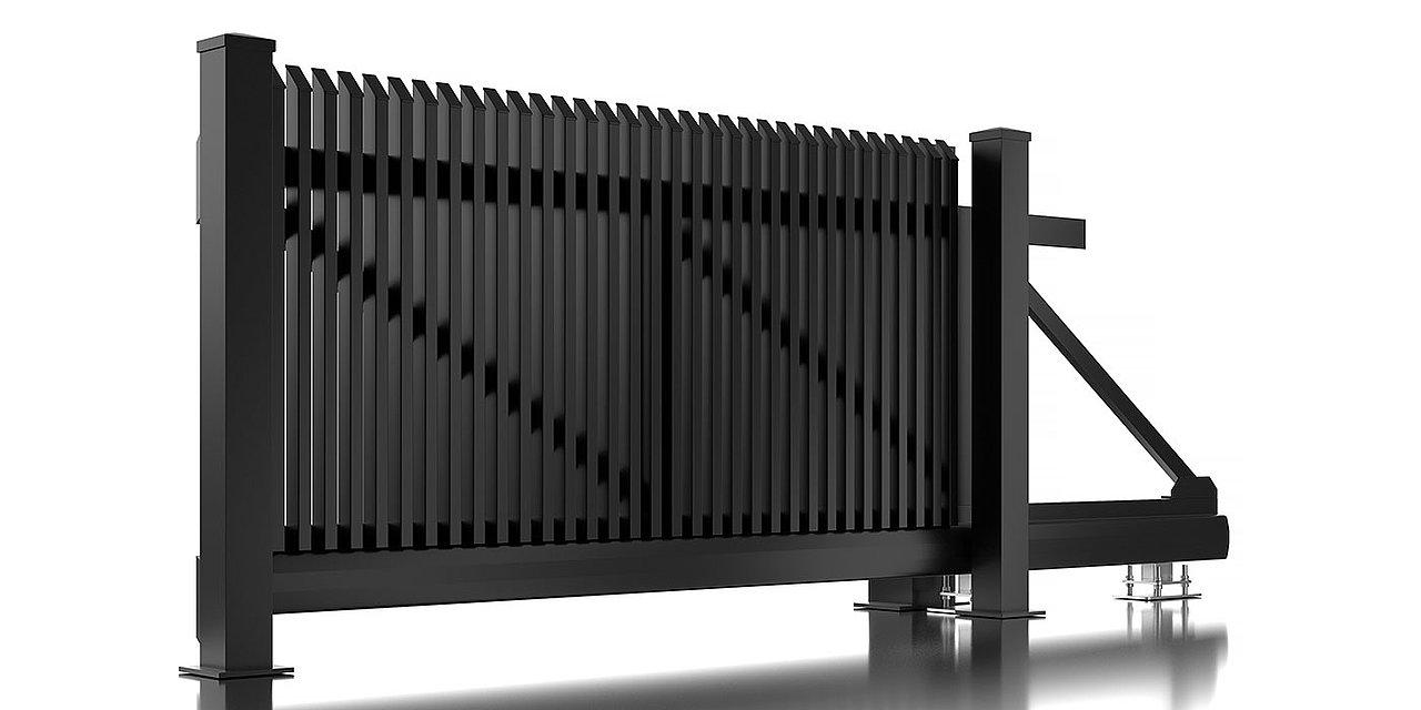 Portail coulissant en aluminium Lichtenberg de Super-Clôture