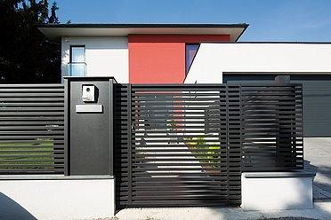 Portail de jardin, porte piétonne, porte d'entrée, portillon, portillon de jardin, Super-Clôture
