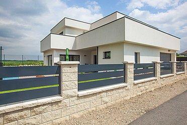 Clôture moderne en aluminium de super-clôture
