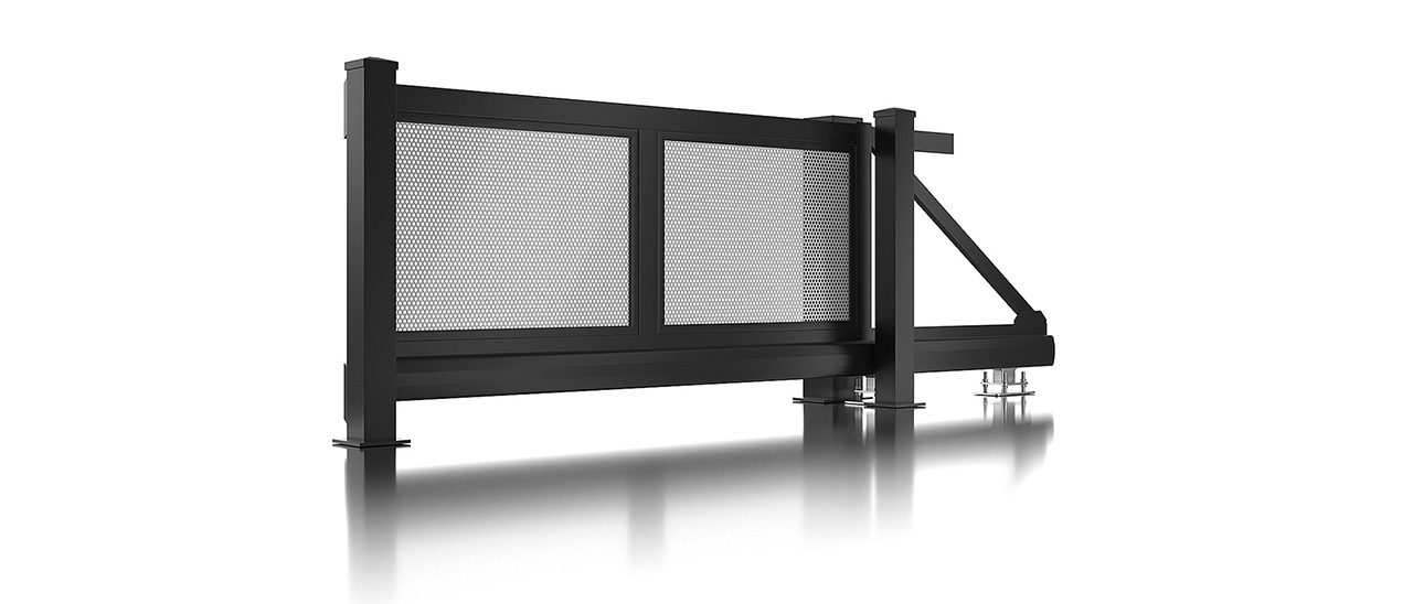 Super-Clôture, Da Vinci, France, clôture en aluminium, clôture, tôle perforée, trou, aluminium, moderne