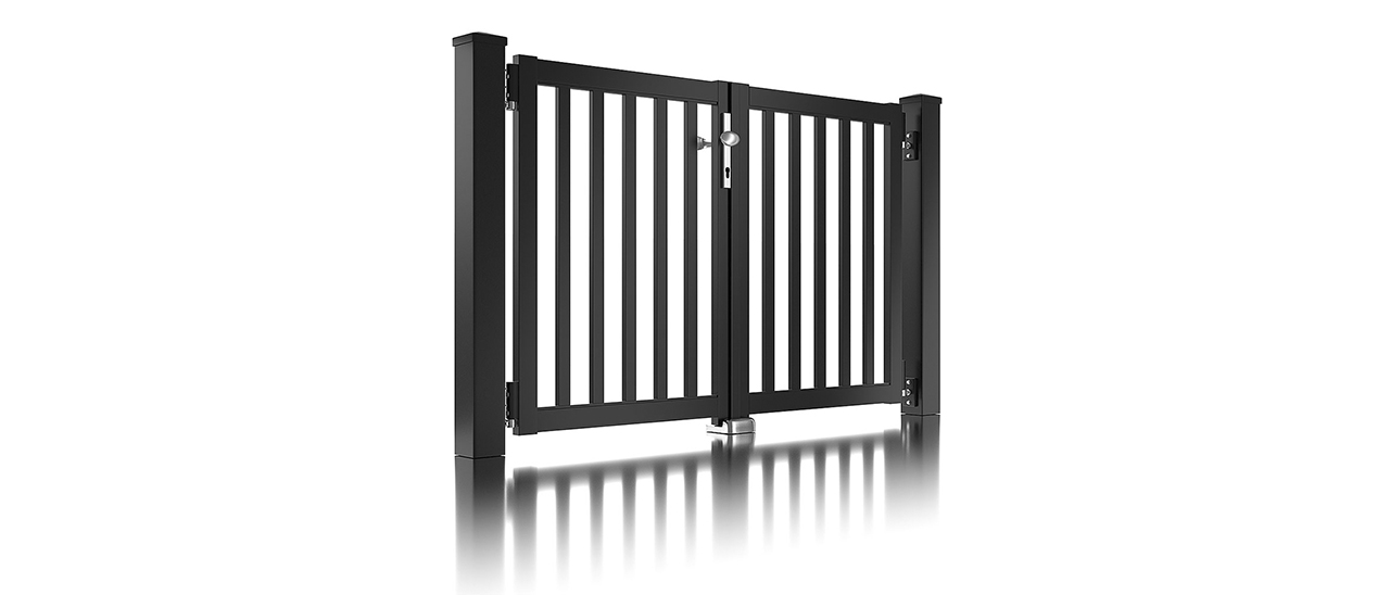 Super-Clôture, Galilée, France, barre, clôture, clôture alu, classique, classiques, portail à double battant, portail