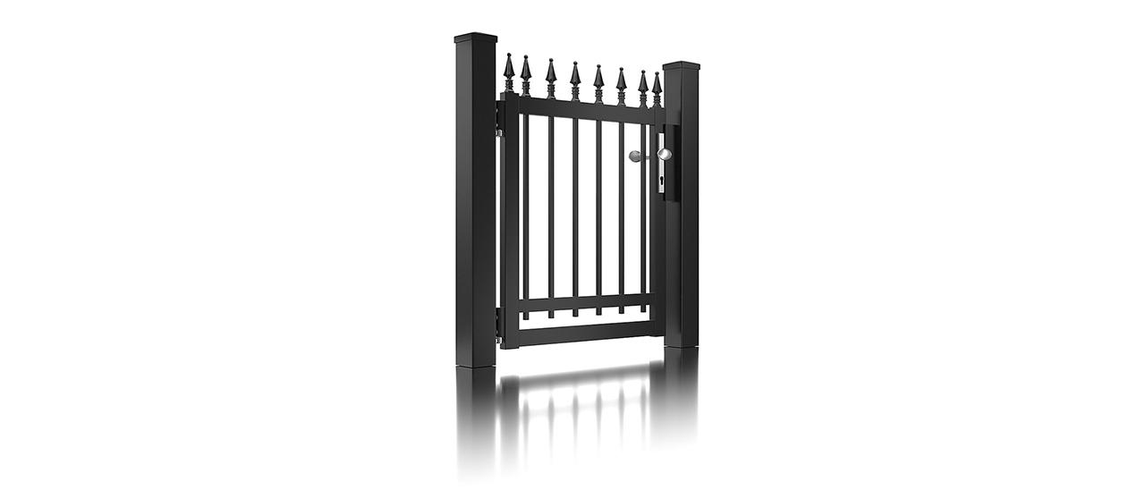 Super-Clôture, Gutenberg, France, clôture fer forgé, clôture, finition martelée, gris, clôture alu, décor, clôtures, classique